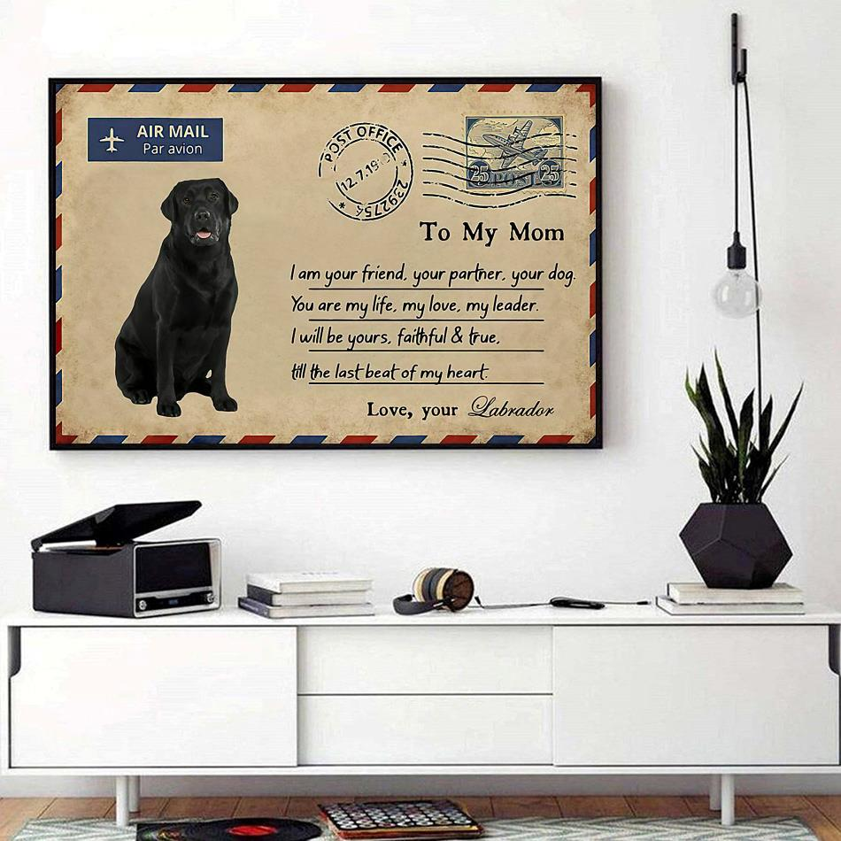 Airmail labrador to mom you are my life poster canvas landscape