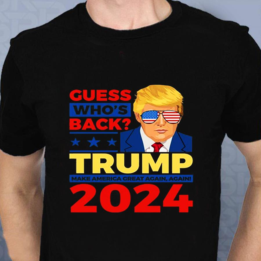 Trump 2024 I'll be back let's America great again and again t-s t-shirt