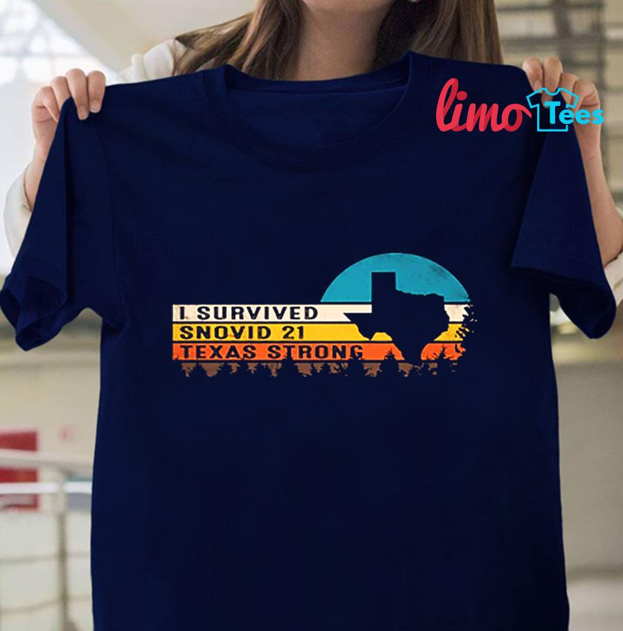 Vintage I survived snovid-21 Texas Strong shirt