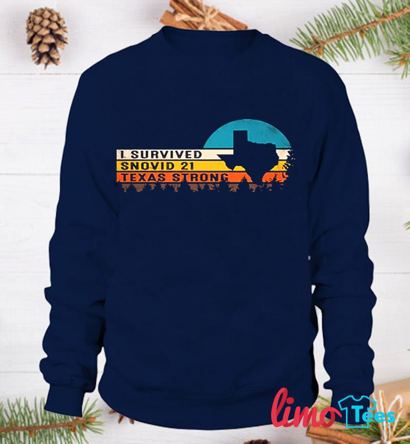 Vintage I survived snovid-21 Texas Strong sweatshirt