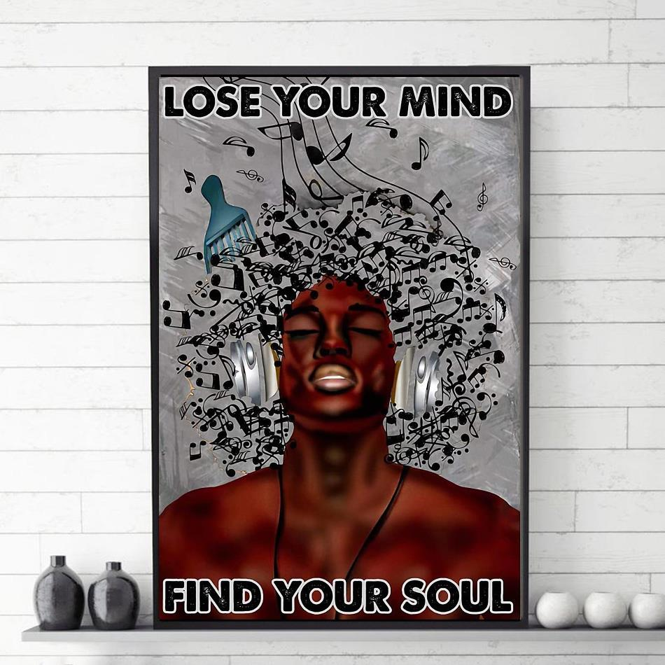Afro man music lose your mind find your soul poster vetical poster