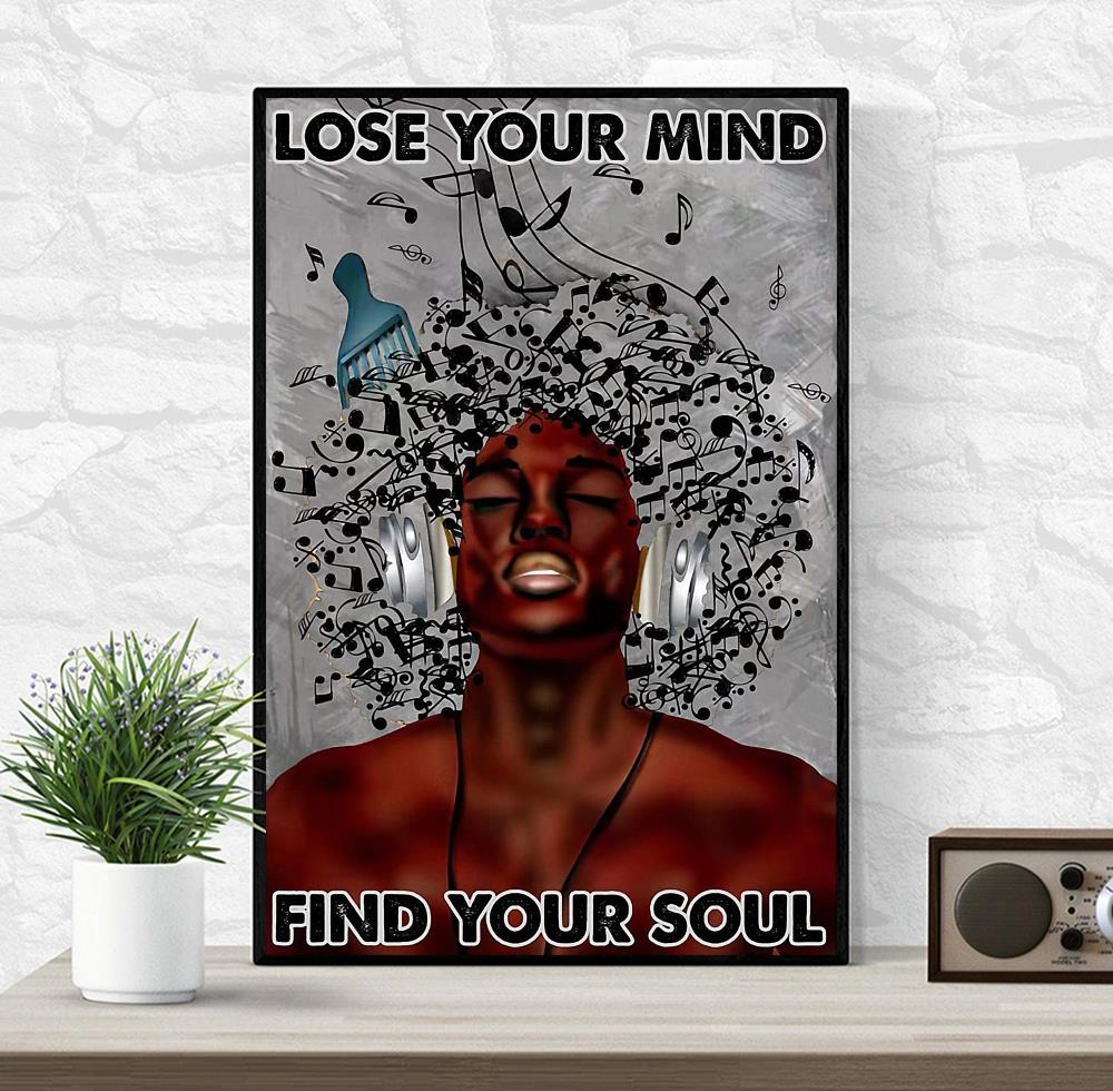 Afro man music lose your mind find your soul poster
