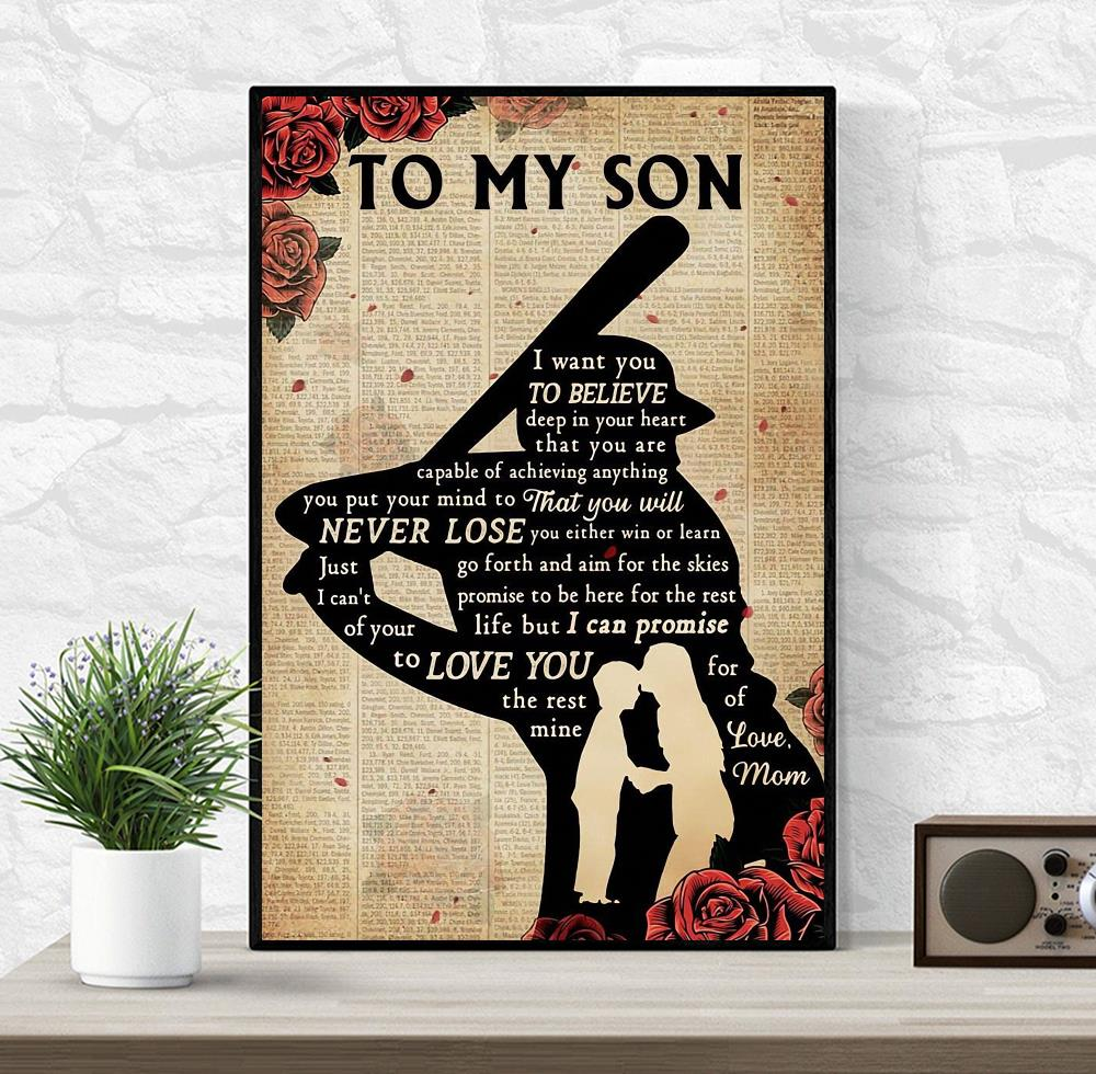 Baseball player's mom to my son poster
