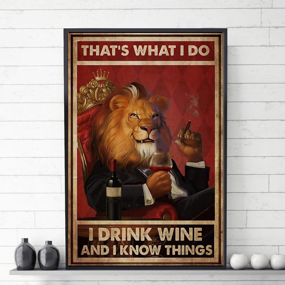 Lion King drink wine and know thingss poster