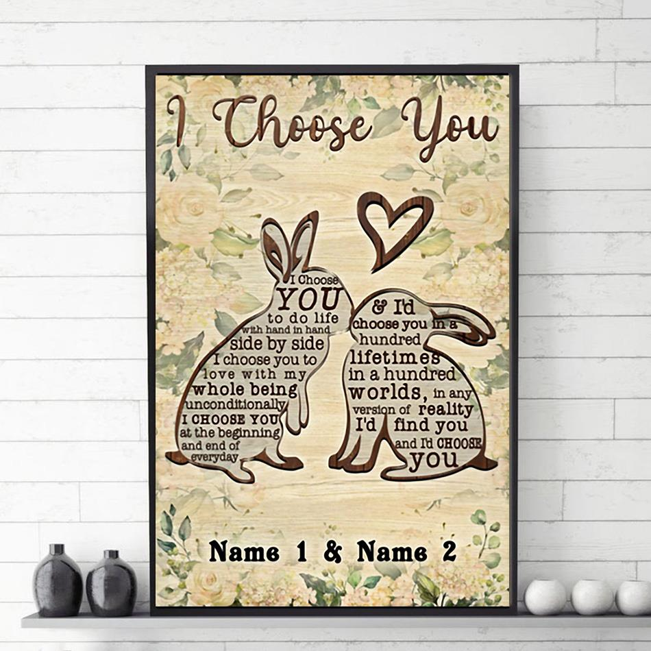 Rabbit family I choose you poster canvas