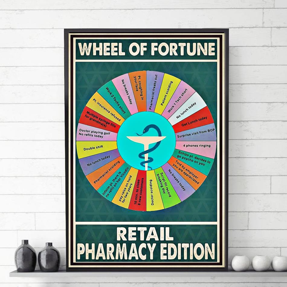 Wheel of fortune retail pharmacy edition poster