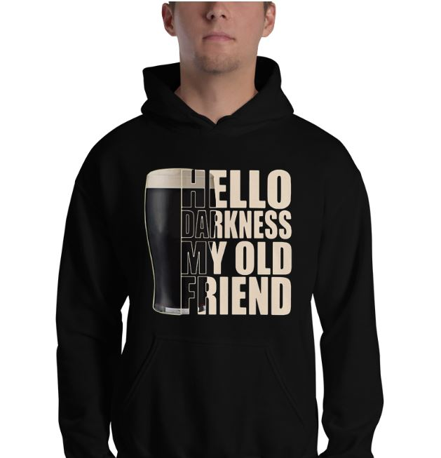 Guinness Beer hello darkness my old friend shirt