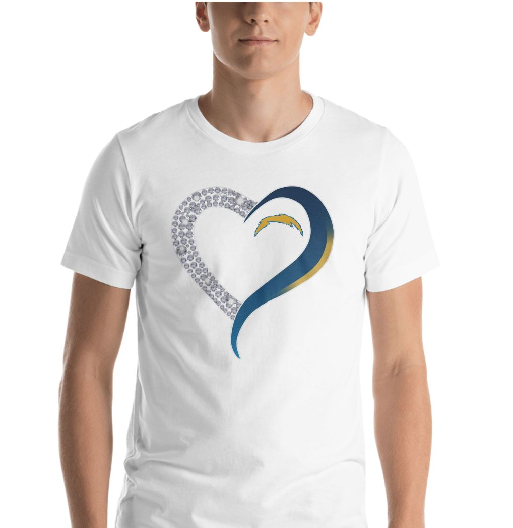 San Diego Chargers diamond heart shirt