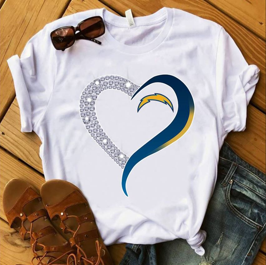 San Diego Chargers diamond heart guys shirt
