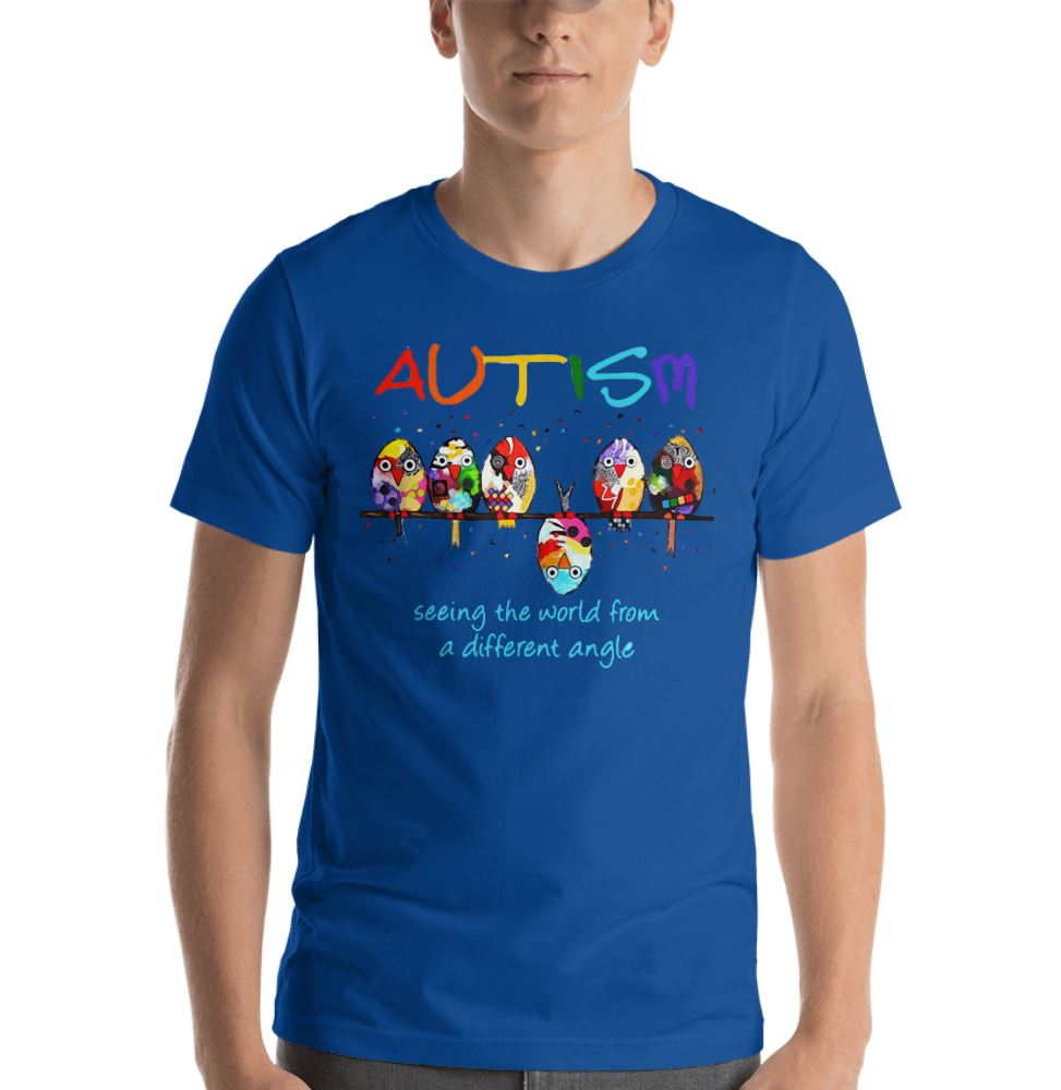 Autism Owl seeing the world from a different angle shirt