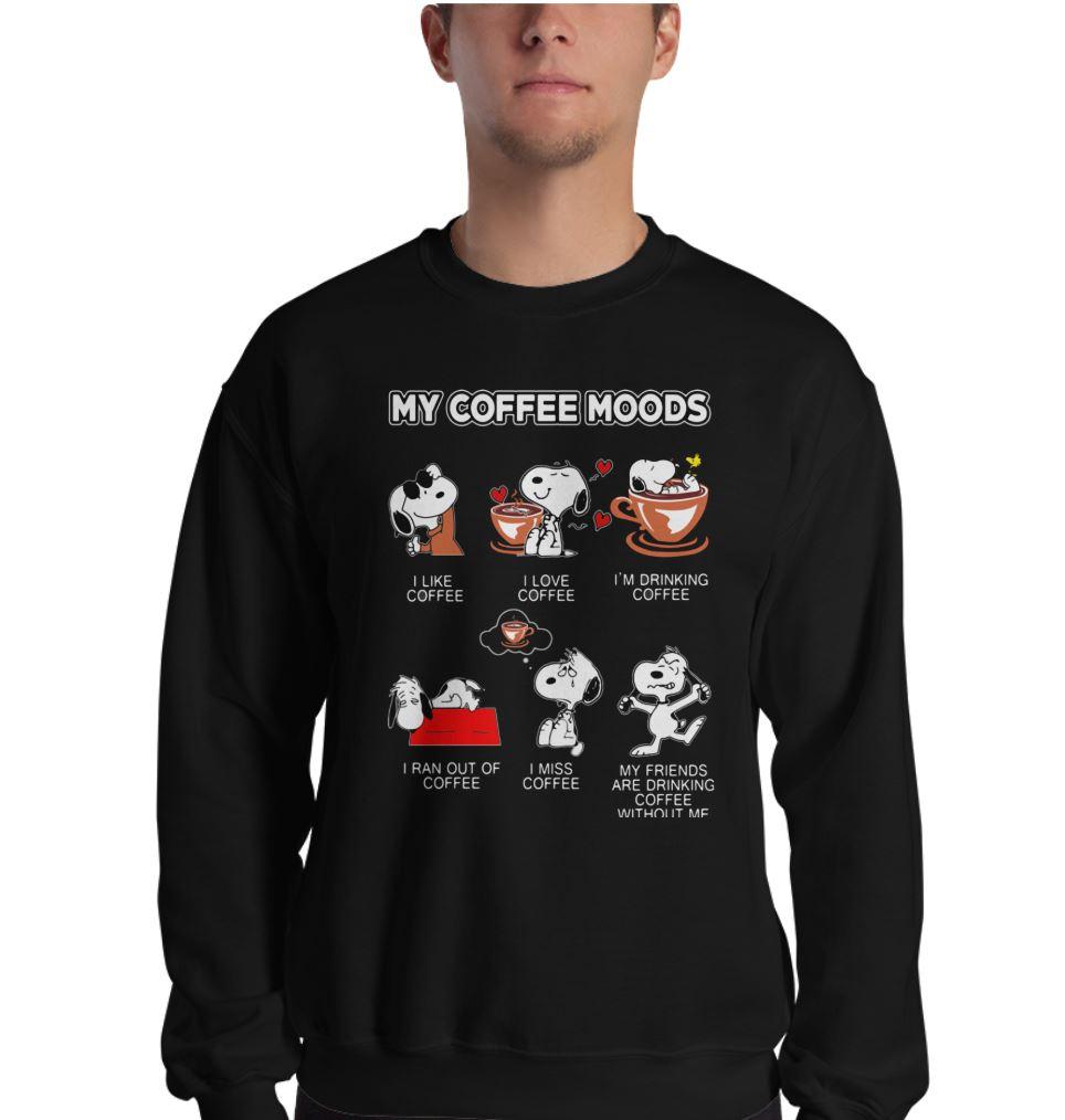 Snoopy my coffee moods shirt