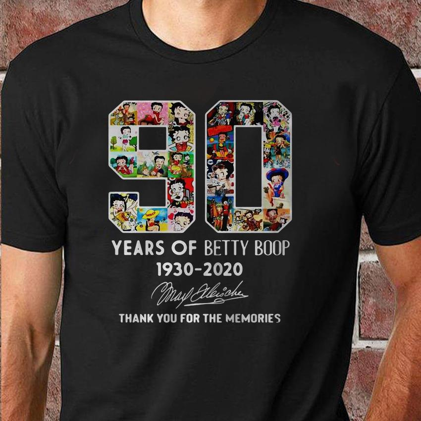 90 Years of Betty Boop 1930-2020 unisex shirt