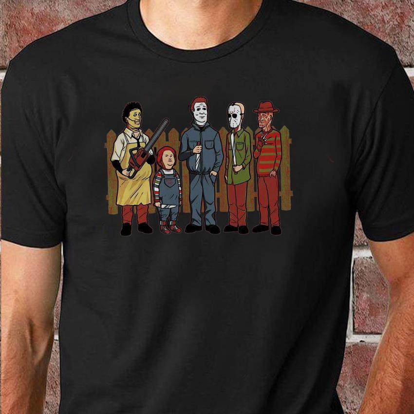 King of the hell Leatherface Chucky Michael Myers Halloween unisex shirt