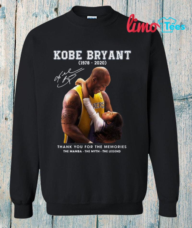 Kobe Bryant and Gigi thank you for the memories sweatshirt