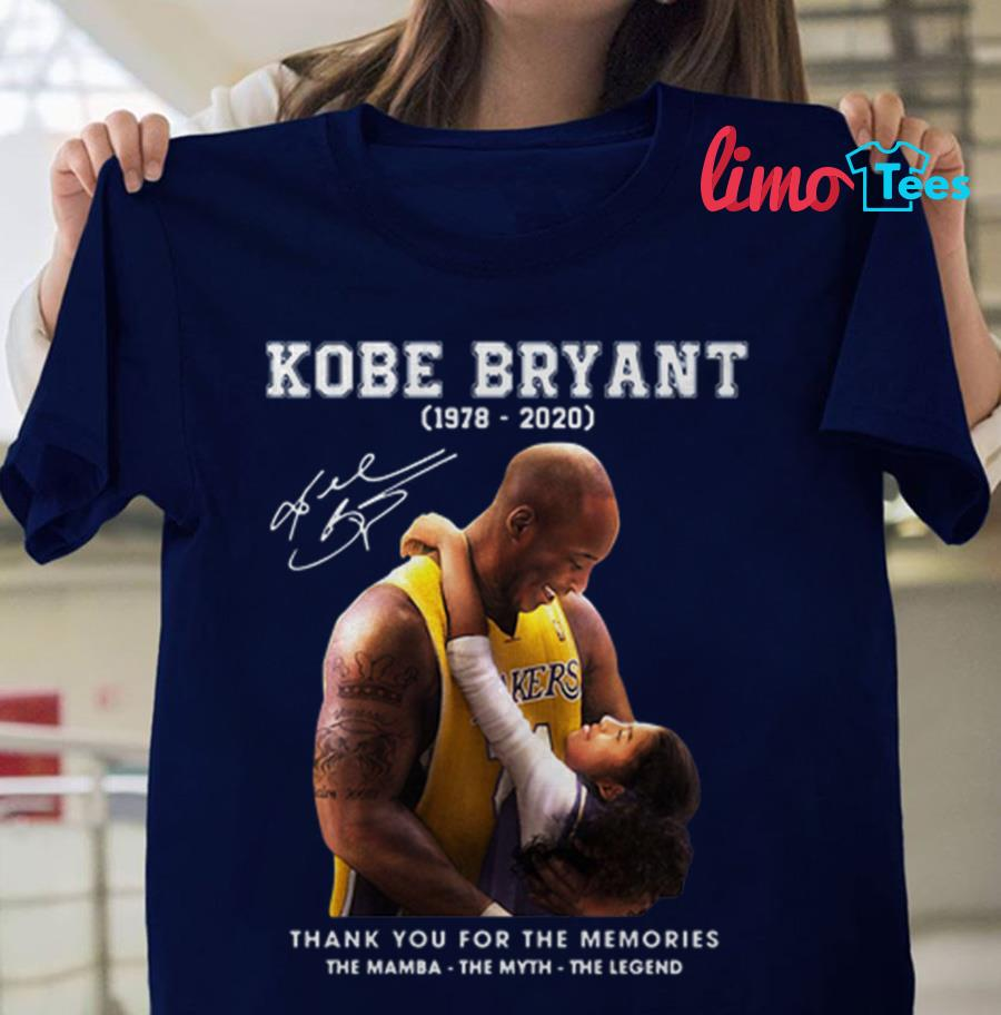 Kobe Bryant and Gigi thank you for the memories t-shirt