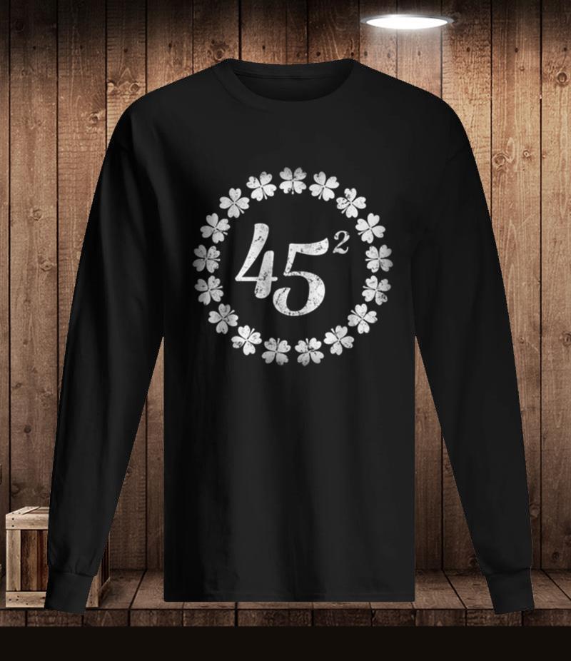 Premium Irish 45 squared Trump 2020 t-shirt