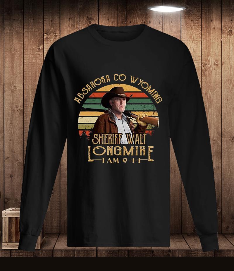 Absaroka Co Wyoming Sheriff Walt Longmire vintage t-s Longsleeve