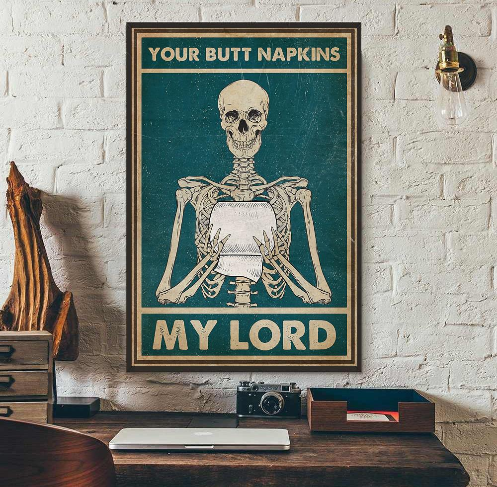 Your butt napkins my Lord vintage poster wall art