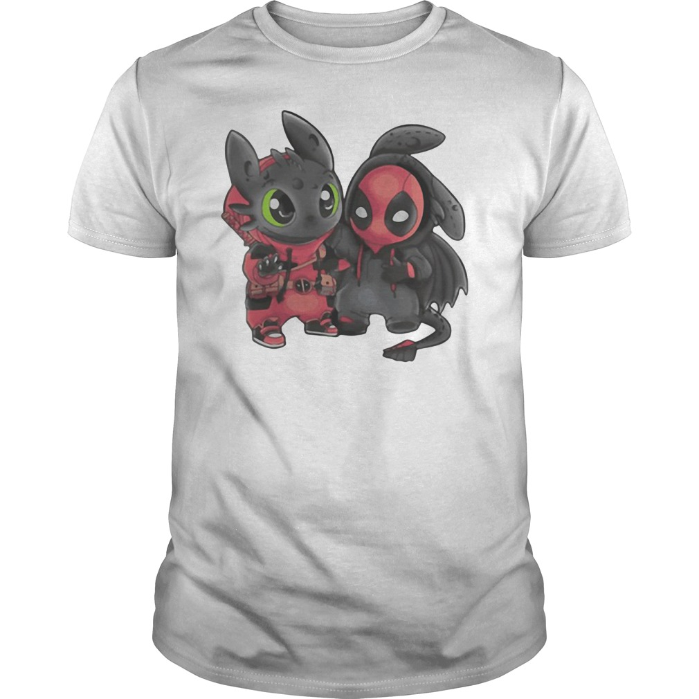 Toothless and Stitch Deadpool shirt