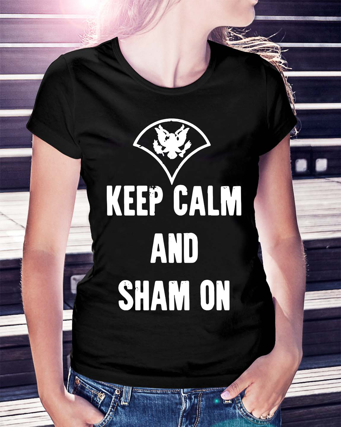 Official Keep calm and sham on shirt