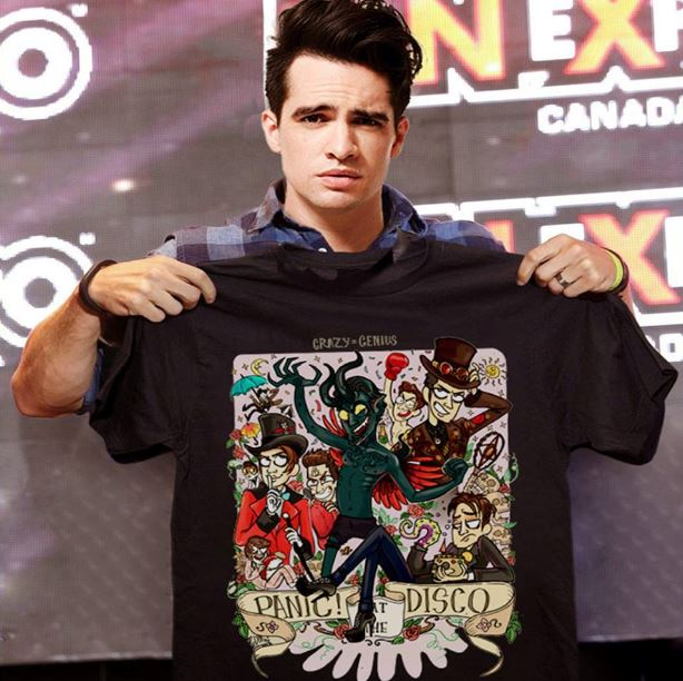 1c053170 Brendon Urie crazy genius panic at the disco shirt, ladies shirt and ...