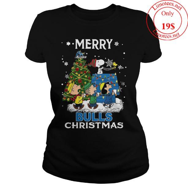 Buffalo Bulls Snoopy and friends Merry Christmas shirt
