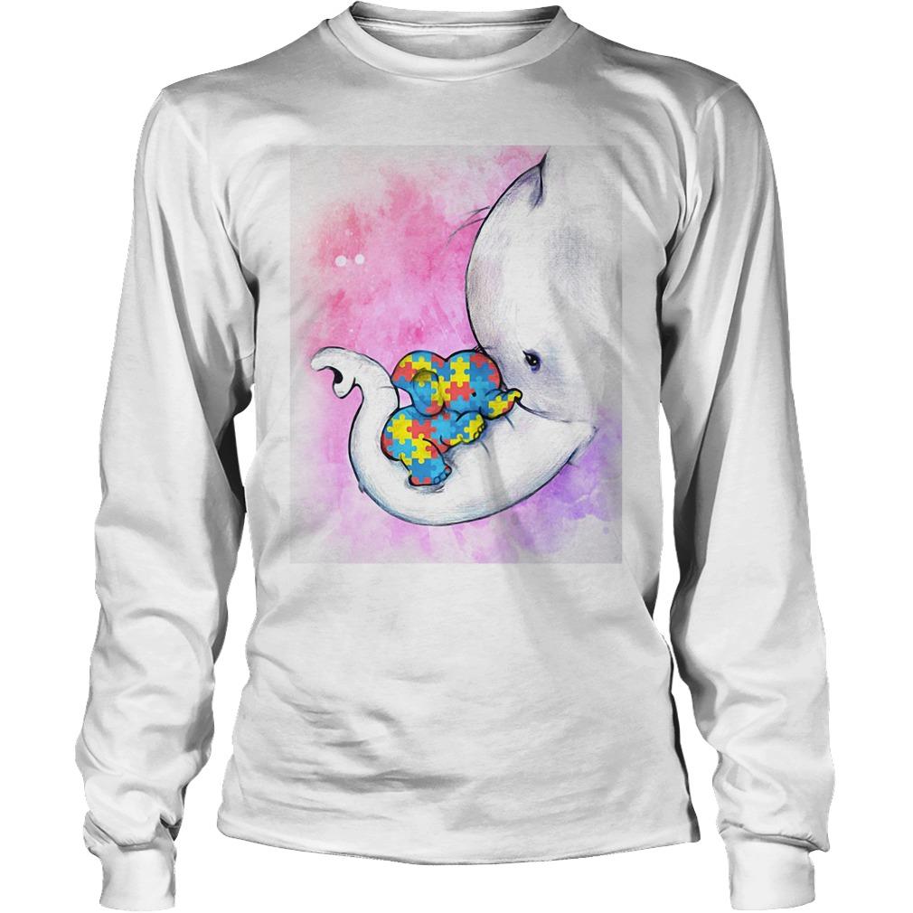 Autism baby mama elephant shirt