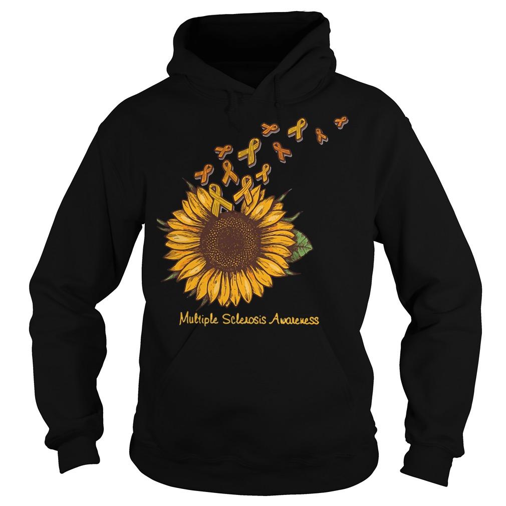 Breast cancer sunflower multiple sclerosis awareness shirt