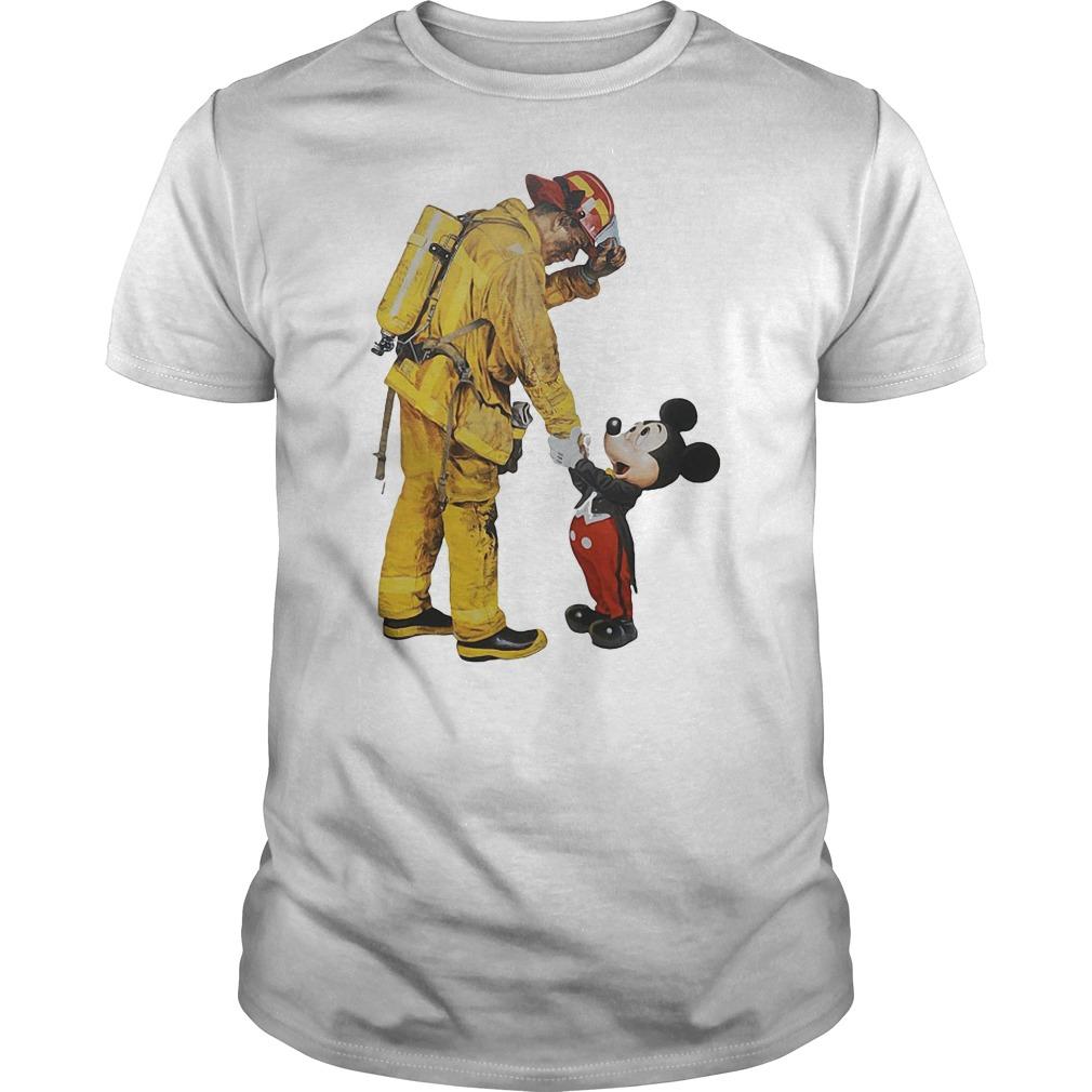 Wildland Fire Fighter with Mickey Disney shirt