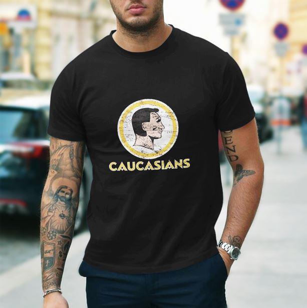 Washington Caucasians redskins tee shirt. Washington Caucasians football  shirt e45a01f58