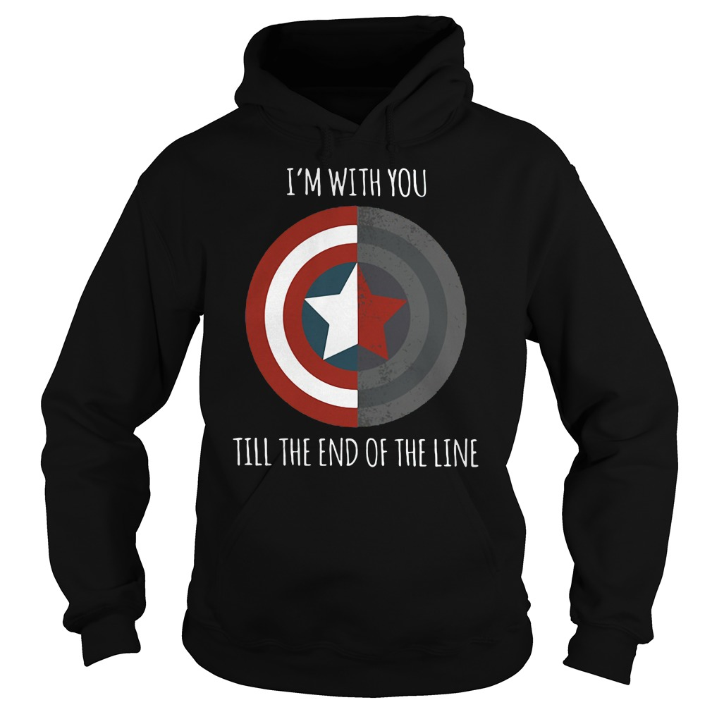 Captain America I'm with you till the end of the line shirt