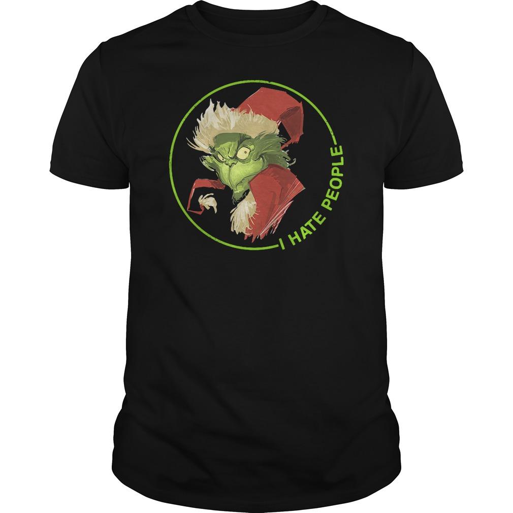 Santa Grinch I hate people shirt