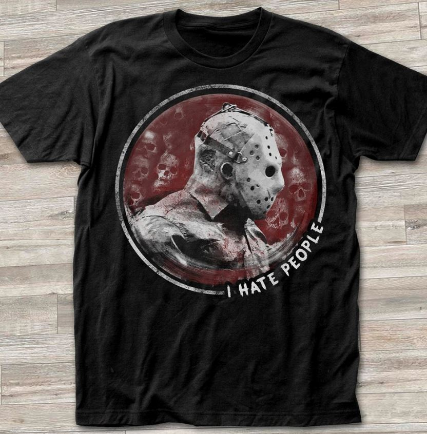 Official Jason Voorhees I hate people shirt
