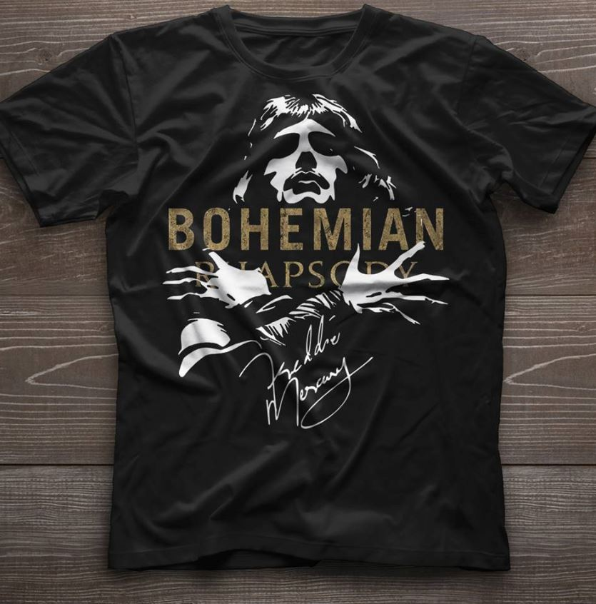 Bohemian Rhapsody Freddie Mercury guys shirt