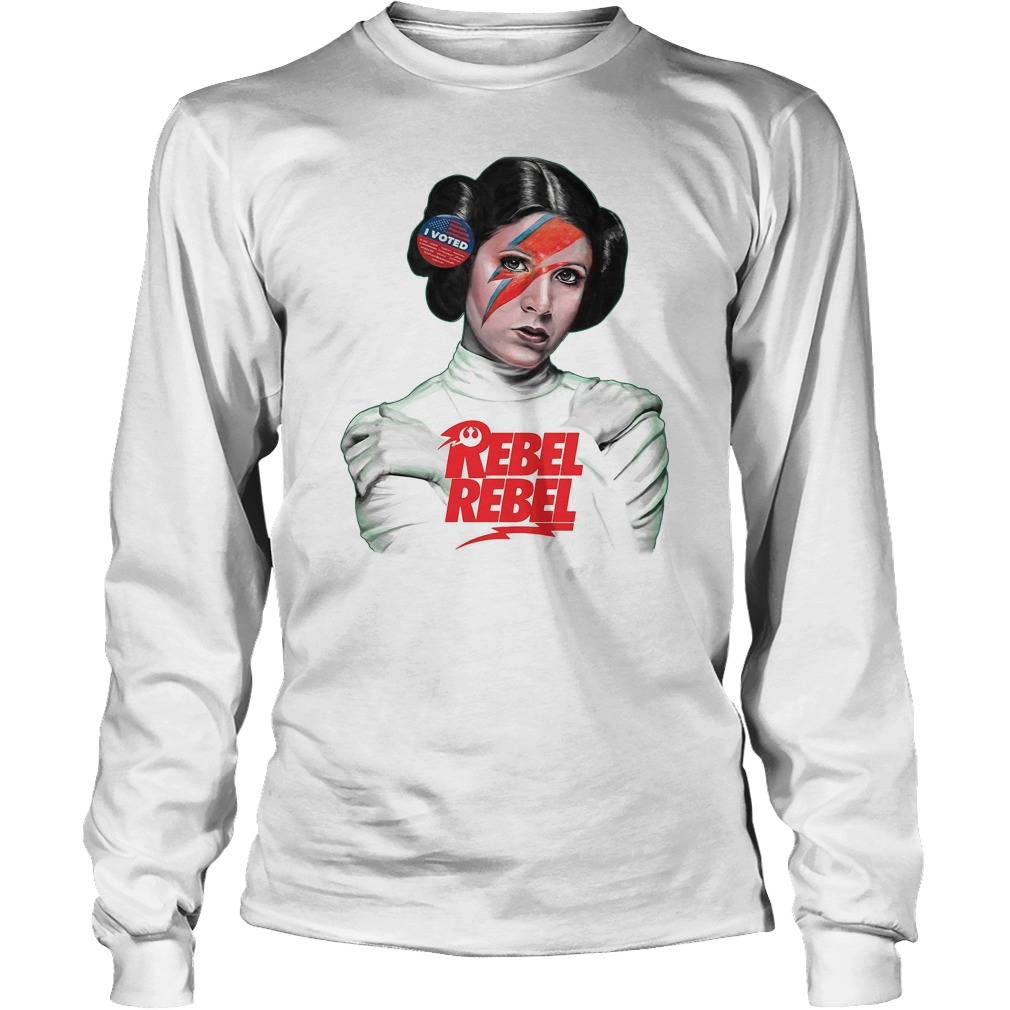 Carrie Fisher I voted Rebel Rebel Clark Gregg shirt