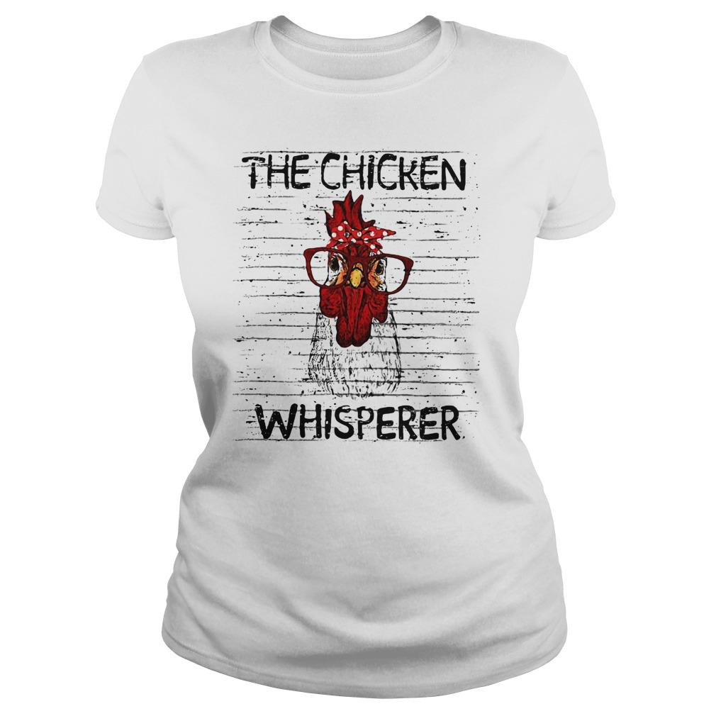 Chicken Whisperer wearing glasses shirt