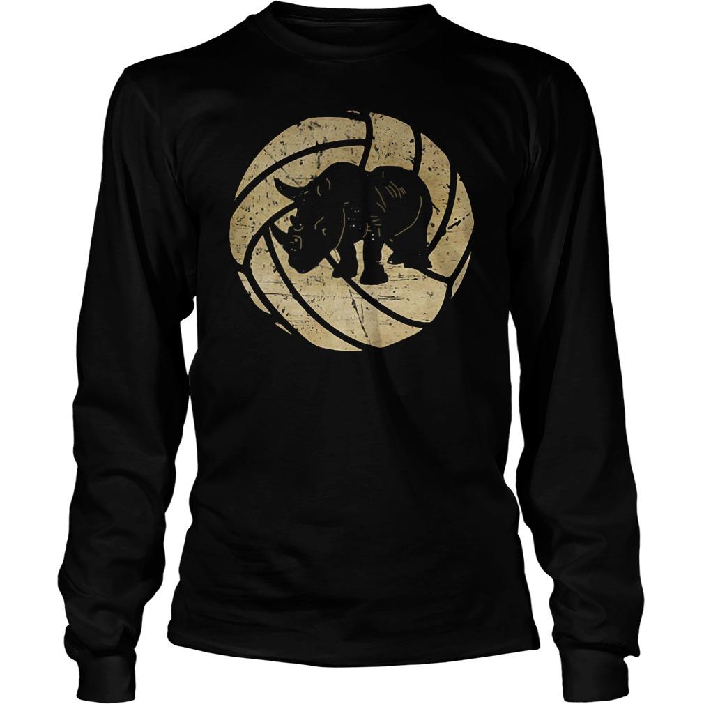 Chubby Rhino volleyball shirt