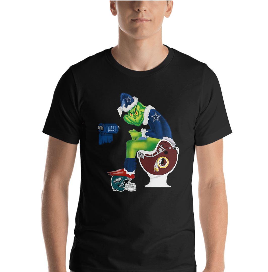 8b0b9c6e9 Dallas Cowboys Grinch Santa toilet shirt
