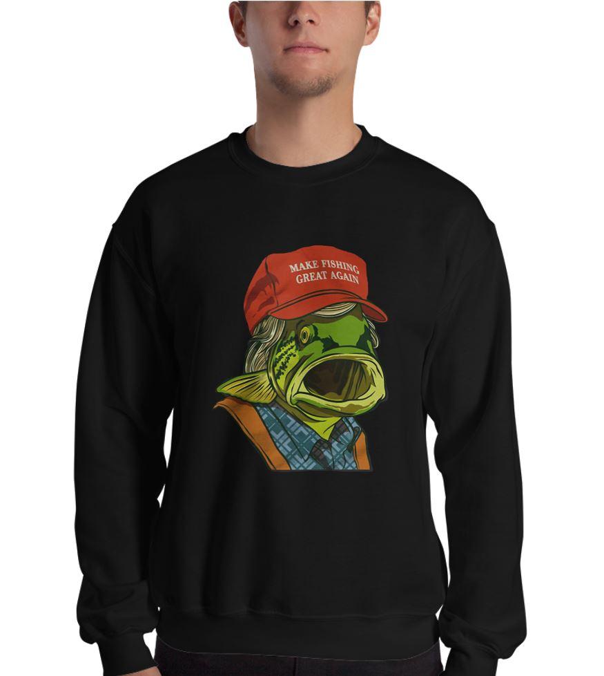 Donald Trump make fishing great again shirt