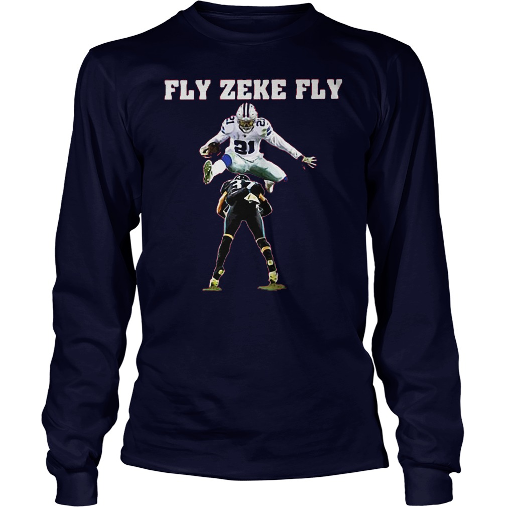 Ezekiel Elliott fly zeke fly Dallas Cowboys shirt c134e6c78