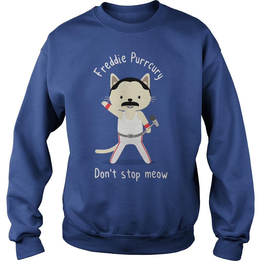 Freddie Purrcury don't stop meow shirt