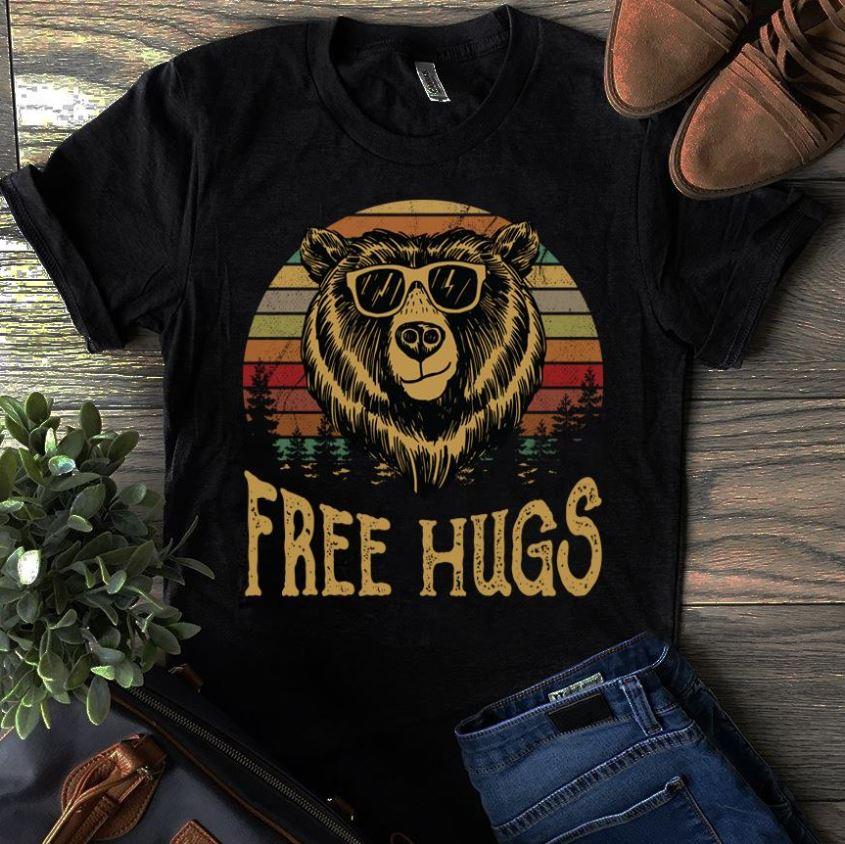 Free Hugs Bear sunset shirt