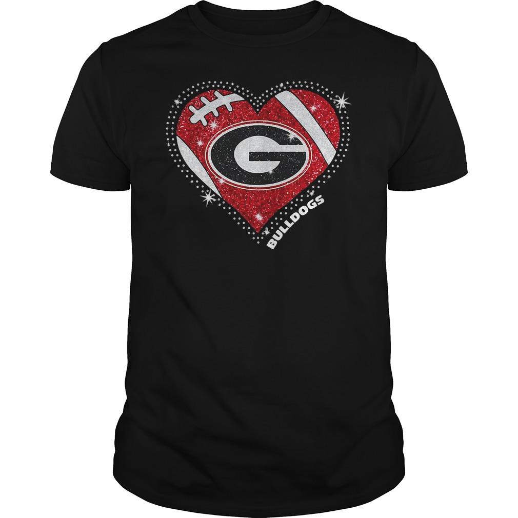 Georgia Bulldogs football diamond heart shirt