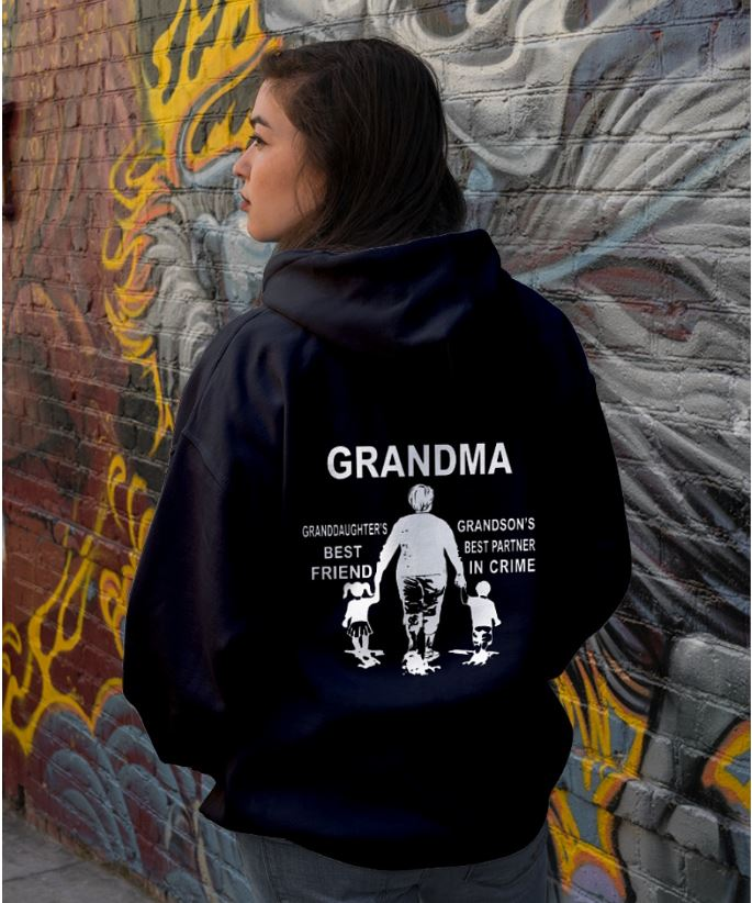 Grandma granddaughter's best friend grandson's best partner hoodie