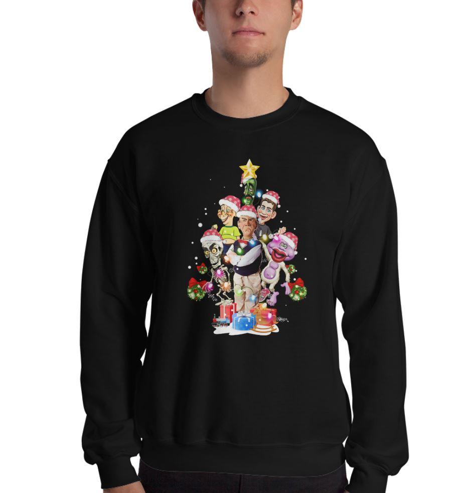 Jeff Dunham Christmas tree shirt, ladies shirt, hoodie and sweater