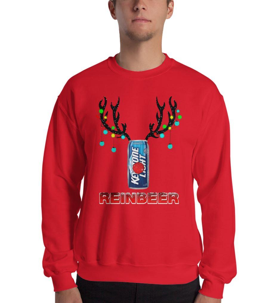 Keystone Light Reindeer Christmas sweat shirt