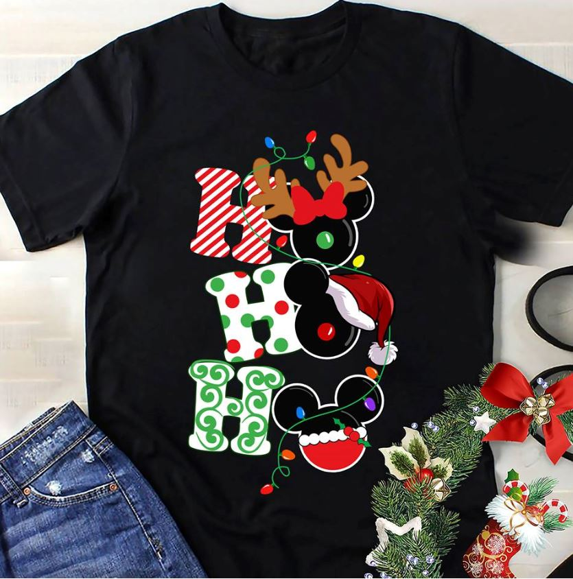 Mickey Disney Christmas ho ho ho shirt