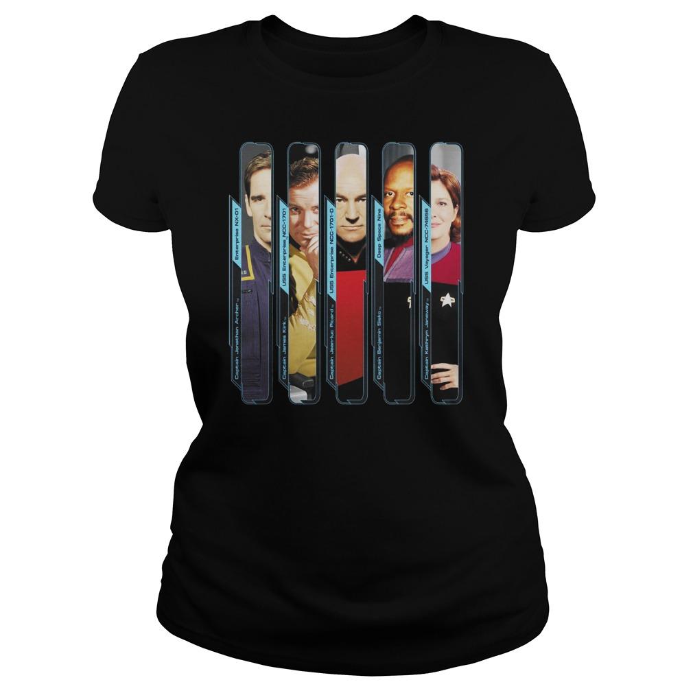 Star Trek Starfleet Captains Marvel shirt
