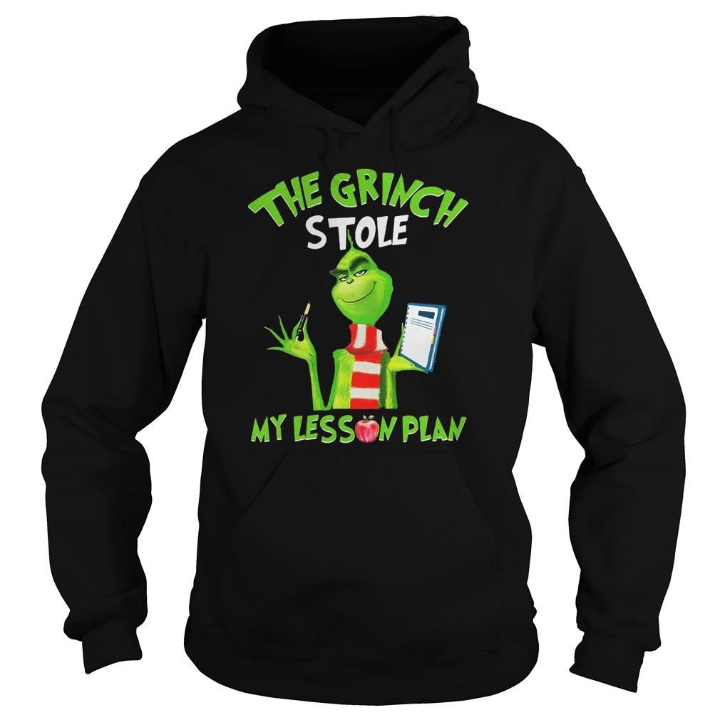 Teacher the Grinch stole my lesson plans shirt