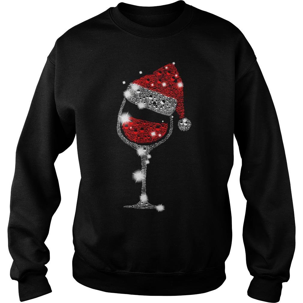 Wine Christmas hat shirt